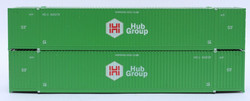 Jacksonville Terminal Company N 537017 53' Corrugated Side Containers HUB GROUP - 2 pack