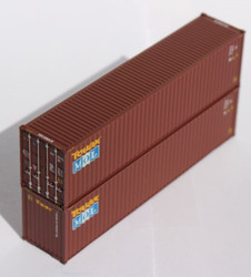 Jacksonville Terminal Company N 405086 40' High Cube Corrugated Side Containers MOL - 2 pack