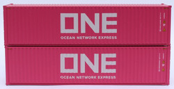 Jacksonville Terminal Company N 405173 40' High Cube Corrugated Side Containers OCEAN NETWORK EXPRESS - ONE magenta ONEU - 2 pack