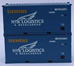 Jacksonville Terminal Company N 205439 20' Standard Height Corrugated Side Containers Siemens Wind Power SWPU – former NYK container - 2 pack