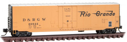 Micro Trains Line N 181 00 150 - 50' Box Car Denver & Rio Grande Western D&RGW #60844