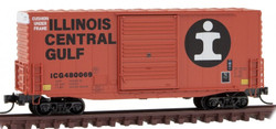 Micro Trains Line N 101 00 150 - 40' Hy Cube Box Car Illinois Central Gulf ICG #480069