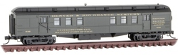 Micro Trains Line N 140 00 390 RPO Heavyweight Passenger Car Denver & Rio Grand Western #632