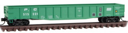 Micro Trains Line N 105 00 350 - 50' Steel Side 14 Panel Fixed End Gondola Penn Central PC #515321