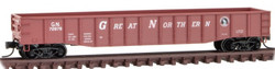 Micro Trains Line N 105 00 541 - 50' Steel Side 15 Panel Fixed End Gondola  Great Northern GN #72878