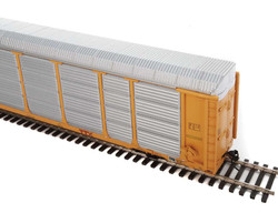 WalthersProto HO 920-101425 Thrall 89' Tri-Level Enclosed Auto Carrier Norfolk Southern NS Rack #33488 - ETTX Flat #700392