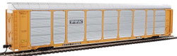 WalthersProto HO 920-101429 Thrall 89' Tri-Level Enclosed Auto Carrier TTX Rack #331231 - ETTX Flat #710686