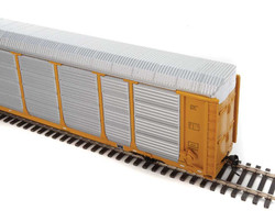 WalthersProto HO 920-101434 Thrall 89' Tri-Level Enclosed Auto Carrier Union Pacific Rack - Southern Pacific Flat SP #517378