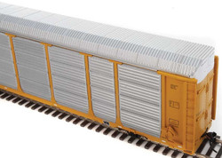 WalthersProto HO 920-101435 Thrall 89' Tri-Level Enclosed Auto Carrier Union Pacific Rack - Southern Pacific Flat SP #517503