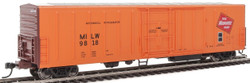 WalthersMainline HO 910-3931 57' Mechanical Reefer Milwaukee Road MILW #9818