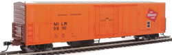 WalthersMainline HO 910-3933 57' Mechanical Reefer Milwaukee Road MILW #9890