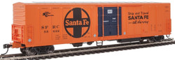 WalthersMainline HO 910-3937 57' Mechanical Reefer Santa Fe Large Logo 'Ship and Travel' Slogan SFRC #55422