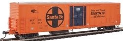 WalthersMainline HO 910-3939 57' Mechanical Reefer Santa Fe Large Logo 'Ship and Travel' Slogan SFRC #55684