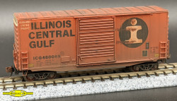 Lombard Hobbies Exclusive JHC231 N Scale Weathered Micro Trains Line 40' Hy Cube Box Car Illinois Central Gulf ICG #480069