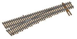 WalthersTrack HO 948-83017 Code 83 Nickel Silver DCC Friendly Number 6 Turnout - Left Hand