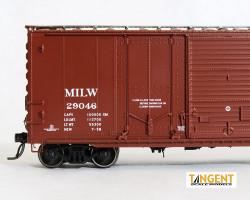Tangent Scale Models HO 26060-11 Pullman-Standard 40' PS-1 Combination Door Boxcar Milwaukee Road 'Original 7-1958' MILW #29337
