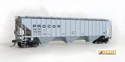 Tangent Scale Models HO 20042-01 Pullman-Standard PS-2CD 4750 Covered Hopper PROCOR 'Procor Repaint 1999+' UNPX #121251