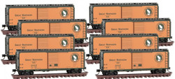 Micro Trains Line N 993 00 820 Box Car Set Great Northern GN 8-pack