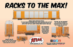 Atlas Master HO 20006429 Gunderson Multi-Max Auto Rack Canadian Pacific 'Black Beaver Logo' CP TTGX #697950