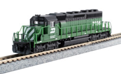 Kato N 176-4961 EMD SD40-2 Mid-Production DCC Ready Burlington Northern BN #7036