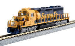 Kato N 176-8209 EMD SD40-2 Mid-Production DCC Ready Santa Fe ATSF #5072