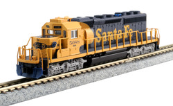Kato N 176-8210 EMD SD40-2 Mid-Production DCC Ready Santa Fe ATSF #5088