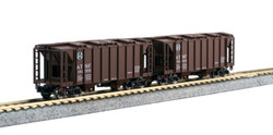 Kato N 106-4700 ACF Covered Hopper 8-Car Set - ATSF, C&O, UP, CB&Q