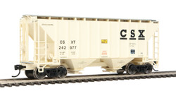 Walthers Mainline HO 910-7961 37' 2980 2-Bay Covered Hopper CSX Transportation CSXT #242077