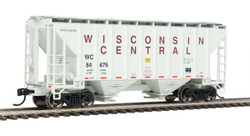 Walthers Mainline HO 910-7971 37' 2980 2-Bay Covered Hopper Wisconsin Central WC #84676