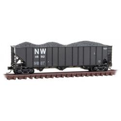 Micro Trains Line N 108 00 422 - 100 Ton 3-Bay Open Hopper Norfolk & Western NW #118912