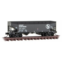 Micro Trains Line 055 00 600 33' Offset Side 2-Bay Hopper Great Northern GN #73571