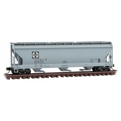 Micro Trains Line 094 00 690 3-Bay Covered Hopper with Elongated Hatches Santa Fe ATSF #305103