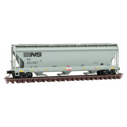 Micro Trains Line 094 00 031 3-Bay Covered Hopper with Elongated Hatches Norfolk Southern NS #251087