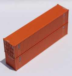 Jacksonville Terminal Company N 405505 40' Standard Height 8'6 Wave Corrugated Containers KCS 'ex SEA' KCSU 2-Pack