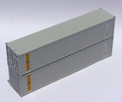 Jacksonville Terminal Company N 405524 40' Standard Height 8'6 Wave Corrugated Containers TRANSOCEAN 'ex US Lines' SIHU 2-Pack