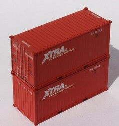Jacksonville Terminal Company N 205372 20' Standard Height Container XTRA International 'MLCU Matson lease' 2-Pack