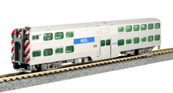 Kato N 106-8703 Chicago METRA Bi-Level Commuter Passenger 3 Car Book Case Set