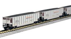 Kato N 106-4628 BethGon Coalporter 8-Car Set BNSF 'Swoosh' Scheme