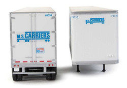 Walthers SceneMaster HO 949-2463 53' Stoughton Trailer MS Carriers 2-Pack