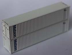 Jacksonville Terminal Company N 405523 40' Standard Height 8'6 Wave Corrugated Containers Matson MATU 2-Pack
