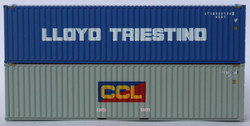 Jacksonville Terminal Company N 405808 40' High Cube Corrugated Side Containers Lloyd Triestino LTIU and Costa Container Line CCL CADU MIX Pack 2-pack
