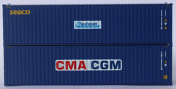 Jacksonville Terminal Company N 405811 40' High Cube Corrugated Side Containers CMA CGM ECMU and SEACO SEFU MIX Pack 2-pack