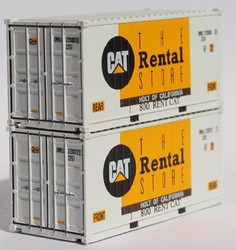 Jacksonville Terminal Company N 205721 20' Standard Height Corrugated Side Containers CAT Rental Unit Holt of California OWLU 2-Pack