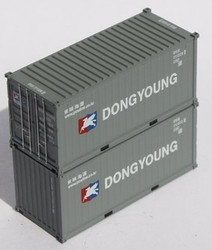Jacksonville Terminal Company N 205440 20' Standard Height Corrugated Side Containers Dong Young DYLU 2-Pack