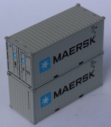Jacksonville Terminal Company N 205333 20' Standard Height Corrugated Side Containers MAERSK MSKU 2-Pack