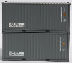 Jacksonville Terminal Company N 205432 20' Standard Height Corrugated Side Containers CPI 'ECO Box' CPIU 2-Pack