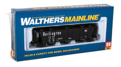 Walthers Mainline HO 910-7016 50' Pullman-Standard PS-2 2893 3-Bay Covered Hopper Chicago Burlington & Quincy CB&Q #85060