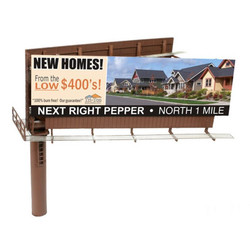 Atlas BLMA 4320 HO Modern Dual Sided Billboard with Ads - Assembled