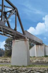 Walthers Cornerstone HO 933-4550 Single Track Railroad Bridge Concrete Piers - 2 Pack - Kit