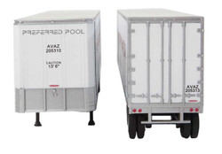 Walthers Scene Master HO 949-2515 40' Trailmobile Trailer Preferred Pool AVAZ 2-Pack